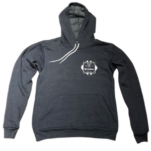 Navy heather Jits Culture pull over hoodie for bjj