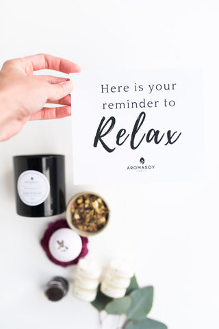 this is your reminder to relax self care box