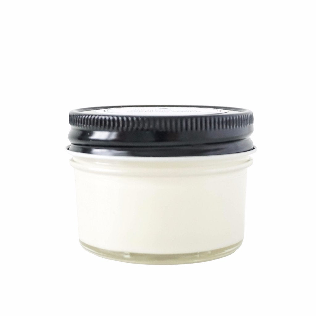 OAKMOSS AMBER Soy Candle Black Lid Mason 4 oz