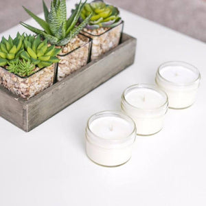WHITE SAGE SEA SALT Soy Candle White Lid Mason 4 oz