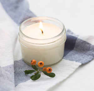 LEMON MINT Soy Candle White Lid Mason 4 oz