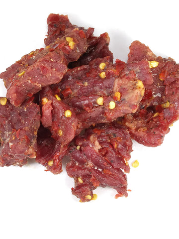 Steak Hunks<br/>Spicy<br/>10/3 oz bags
