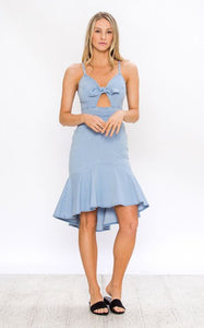 Denim Bow Dress - Anna Bella Boutique