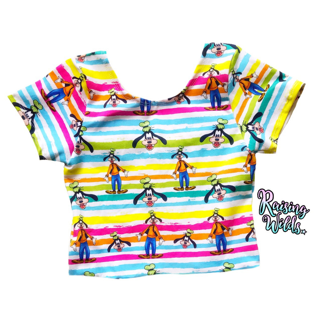Rainbow Goof Crop Top