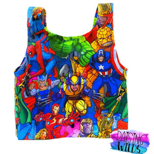 Superheroes Crop Top