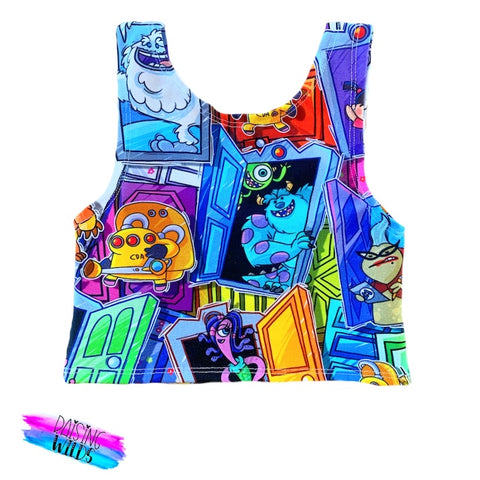 Scare Floor Crop Top
