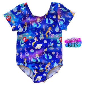 Blue Mermaid Princess Regular Leotard