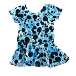 Blue Mouse Peplum