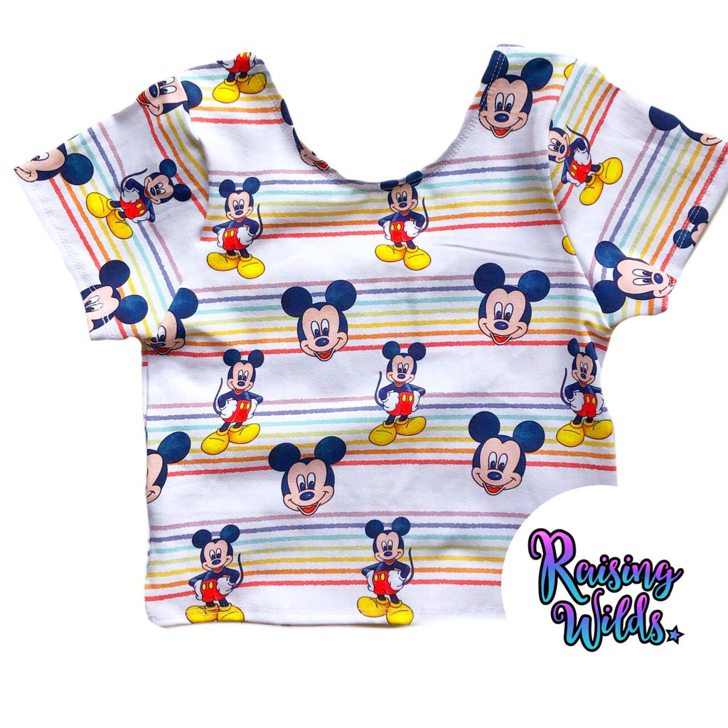 Rainbow Boy Mouse Crop Top
