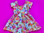 Poco Loco Floral Twirl Dress