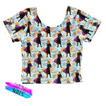 PREORDER Stained Glass Princess Crop Top