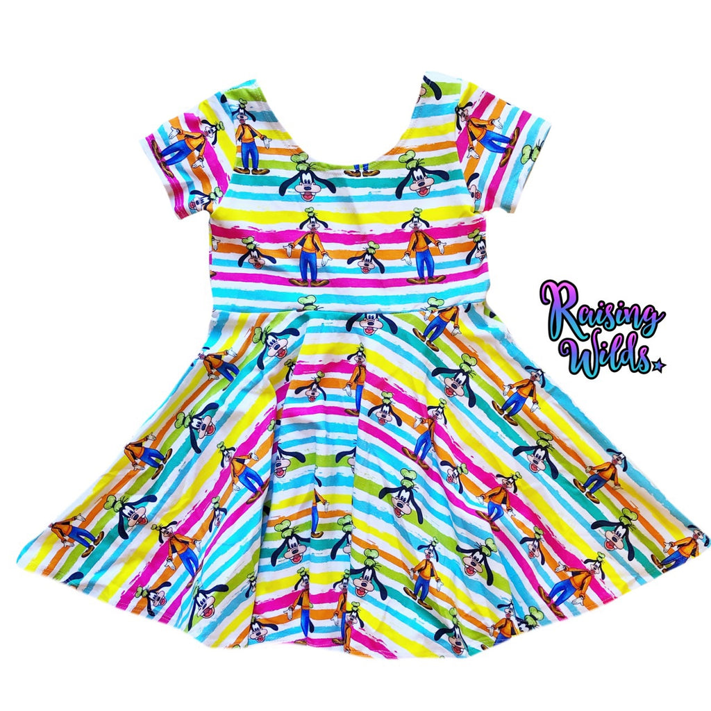 Rainbow Goof Twirl Dress