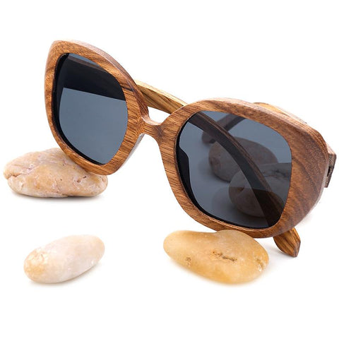 Vintage Zebra Wood Polarized Sunglasses - Wood Addictions