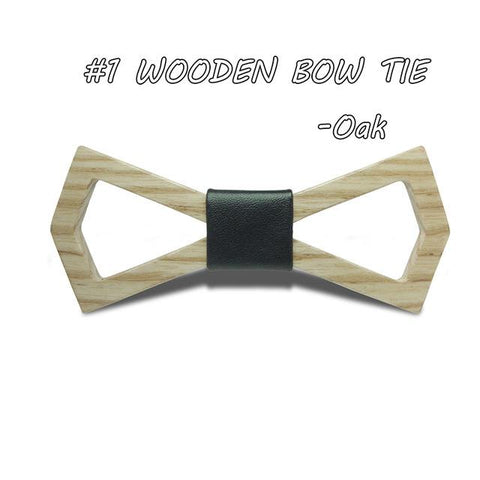 Geometric Hardwood Bow Tie - Wood Addictions