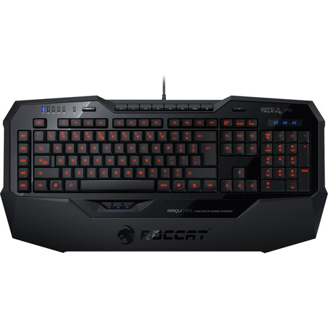 NOB Roccat Isku FX - Multicolor Gaming Keyboard - Cable Connectivity - USB 2.0 Interface - 123 Key - English (US) - Compatible with Computer (PC) - Multimedia, Programmable, Macro Hot Key(s) - Black