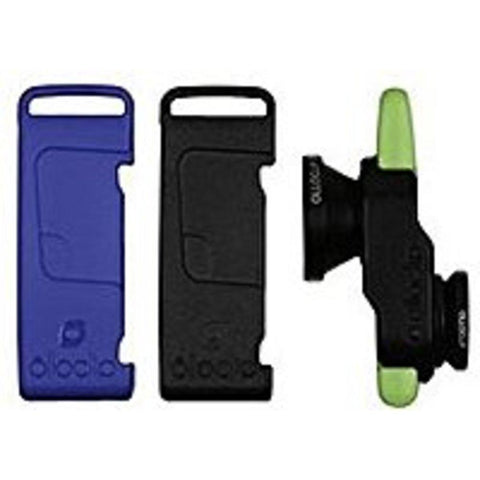 Olloclip  Fisheye/Wide Angle/Macro Lens Selfie - 3-In-1 Photo Lens for iPhone 5/5S - Black/Blue/Green - OCEU-IPH5-L1BK-SBK-1