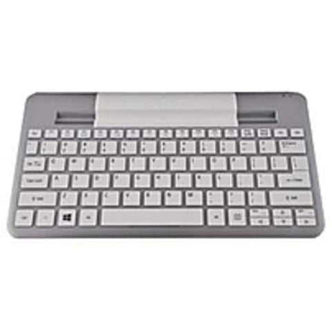 A Acer Bluetooth Keyboard (W3-810) - Wireless Connectivity - Bluetooth - English - Compatible with Tablet - QWERTY Keys Layout - Silver