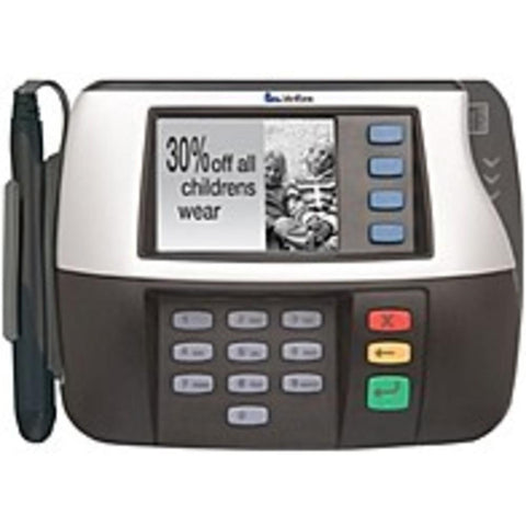 NOB VeriFone MX 850 Payment Terminal - Color Display - 64 MB RAM - Master/Session, DUKPT, Triple DES - USB, Network, Serial - Signature Capture, PCI PED