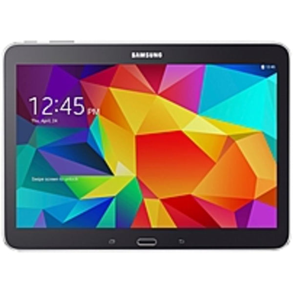 B Samsung Galaxy Tab 4 SM-T530 Tablet - 10.1 - 1.50 GB Quad-core (4 Core) 1.20 GHz - 16 GB - Android 4.4 KitKat - 1280 x 800 - Black - 16:10 Aspect Ratio - Wireless LAN - Bluetooth - GPS - Front Camera/Webcam - 3 Megapixel Rear Camera
