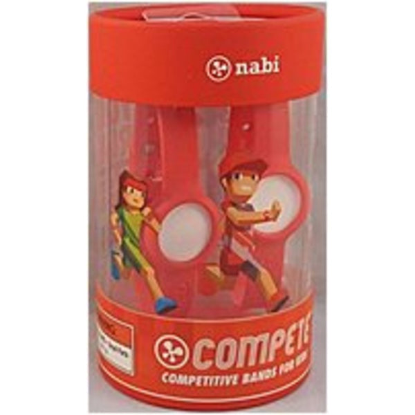 NOB Nabi 30033S Compete Activity Tracking Band for Kids Personalization Pack - Red
