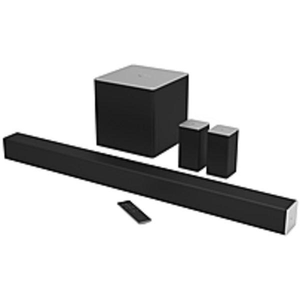 VIZIO 5.1 Sound Bar Speaker - Wireless Speaker(s) - Table Mountable, Wall Mountable - 50 Hz - 20 kHz - Dolby Digital, DTS Circle Surround, DTS TruSurround, DTS TruVolume, DTS Studio Sound, DTS Digital Surround - Bluetooth - USB - apt-X Technology, Wireles