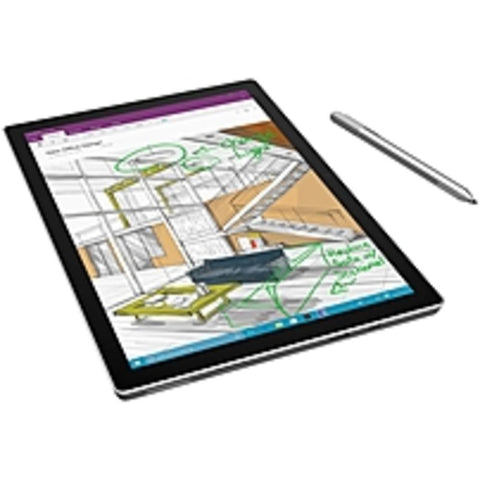 A Microsoft Surface Pro 4 TN3-00001 Tablet PC - Intel Core i7-6650U 2.2 GHz Quad-Core Processor - 16 GB RAM - 512 GB Solid State Drive - 12.3-inch Touchscreen Display - Windows 10 Professional 64-bit Edition
