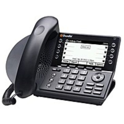 SI Shoretel IP480G SHO-10497 8-Line VOIP Desk Phone - Black