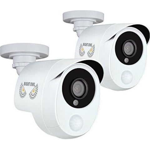 NOB Night Owl CAM2PKPIRHDA10W 2.0 Megapixel Security Camera - 2 Pack - White