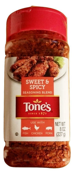 Tone's Sweet & Spicy Seasoning Blend, 8 Ounces