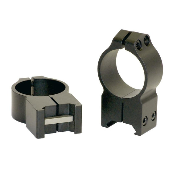 Warne 30mm Permanently Attached - Extra High Matte Rings