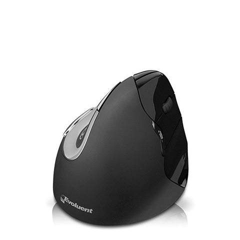 Evoluent Vertical 4 Right Handed Wireless Mouse Black For MAC Only VM4RM (Not Compatible With Windows)