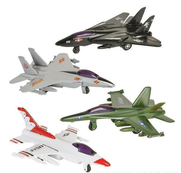 "4"" DIECAST PULLBACK FIGHTER JET"