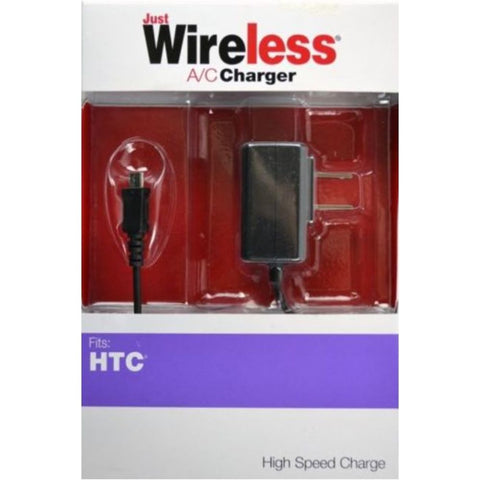NOB Just Wireless 04232 A/C Charger for HTC Phones