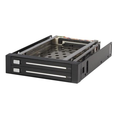 NOB StarTech.com 2 Drive 2.5in Trayless Hot Swap SATA Mobile Rack Backplane - Storage bay adapter - black - 2 x 2.5 - Internal - Internal - Black