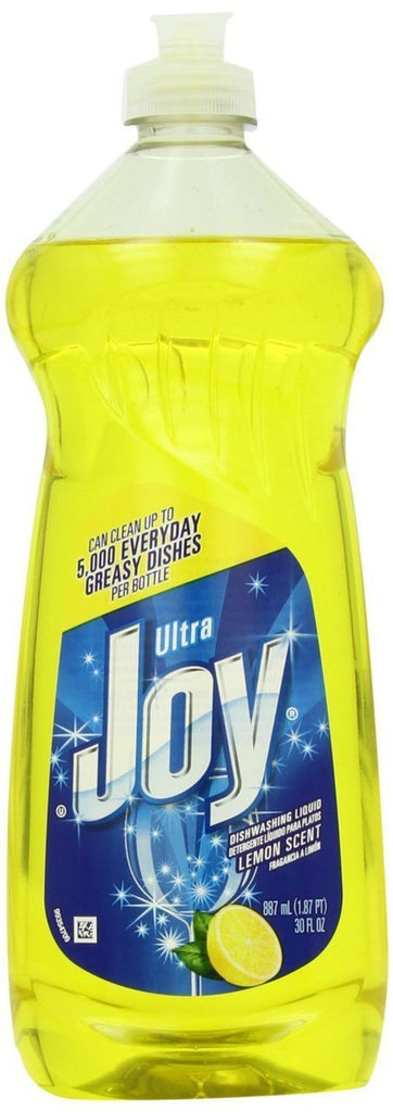 10 PACKS : Joy Ultra Dishwashing Liquid, Lemon Scent, Yellow, 30 Ounce