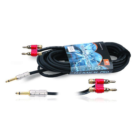 Technical Pro  Technical Pro .25 in. to Banana Speaker Cables 50 ft. Feet 16 Gauge