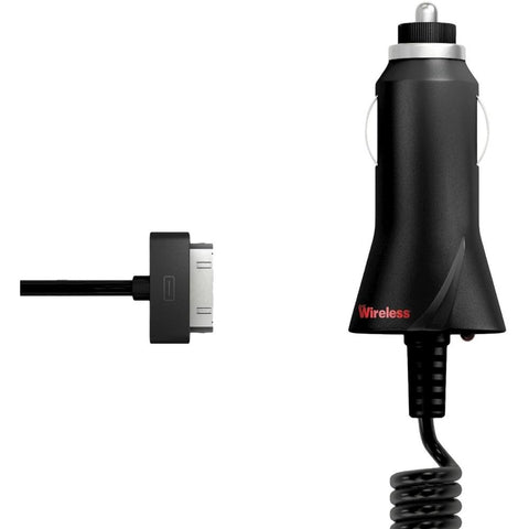 NOB Just Wireless 03400 30-pin Car Charger - Black