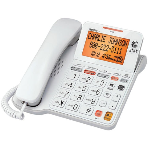 AT&T(R) CL4940 Corded Phone with Answering System & Large Tilt Display