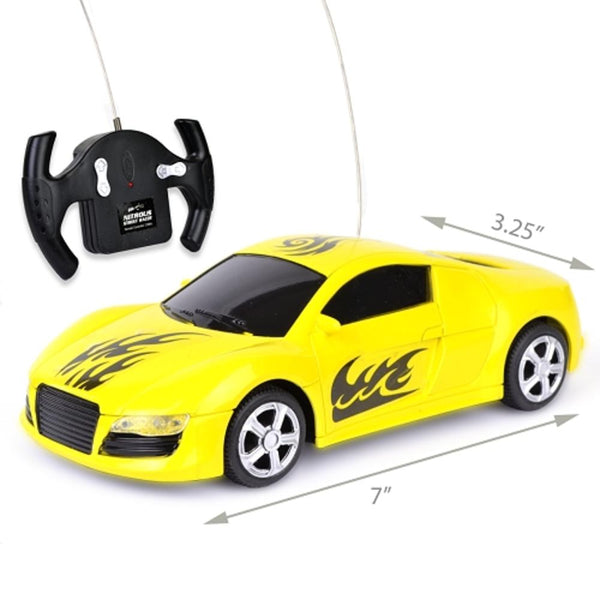 Nitrous Street Racer Super Quick R/C Car w/Working Headlights - 27MHz (Yellow)