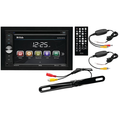 BOSS AUDIO B9351WRC 6.2 Double-DIN In-Dash DVD/MP3/CD & AM/FM Receiver with Bluetooth(R) & Wireless License-Plate Camera