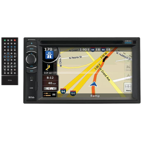 BOSS AUDIO BV9386NV 6.2 Double-DIN In-Dash Navigation DVD Receiver with Bluetooth(R) & iPod(R) Control