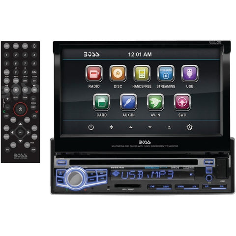 BOSS AUDIO BV9976B 7 Single-DIN In-Dash Flip-up DVD/MP3/CD & AM/FM Receiver with Bluetooth(R)
