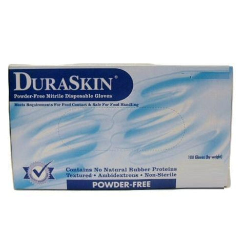 Dura Skin Nitrile Gloves Medium 100 count Powder Free