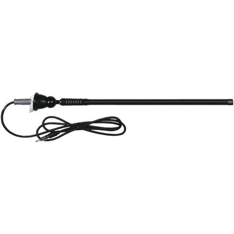 Dual(R) MAR16B Rubber Mast AM/FM Antenna (Black)