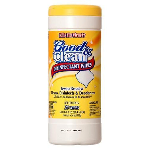 Good & Clean Disinfecting Wipes 24 Count Lemon