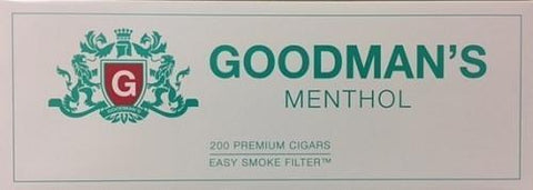 Goodman's Filtered Cigars Menthol