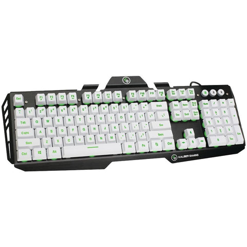 IOGEAR GKB704L-WT Kaliber Gaming(TM) HVER Aluminum Gaming Keyboard (Imperial White)