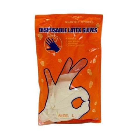Imperial Latex Gloves 8 Pack Large Bag