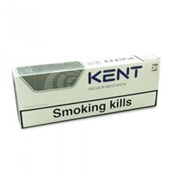 Kent Silver Neo 100's Charcoal Triple Filter