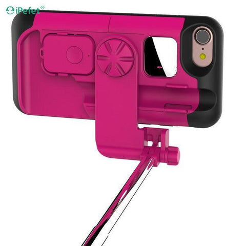 Multifunctional Selfie stick bluetooth mobile phone case for iPhone 7/7plus